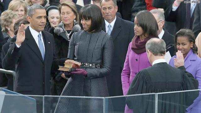Obama with MLK's bible