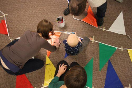 Making Prayer Flags